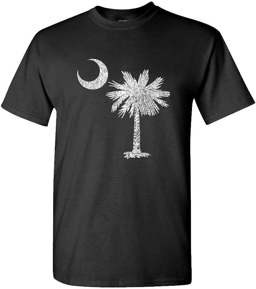 South Carolina - State Flag Pride Palm - Mens Cotton T-Shirt