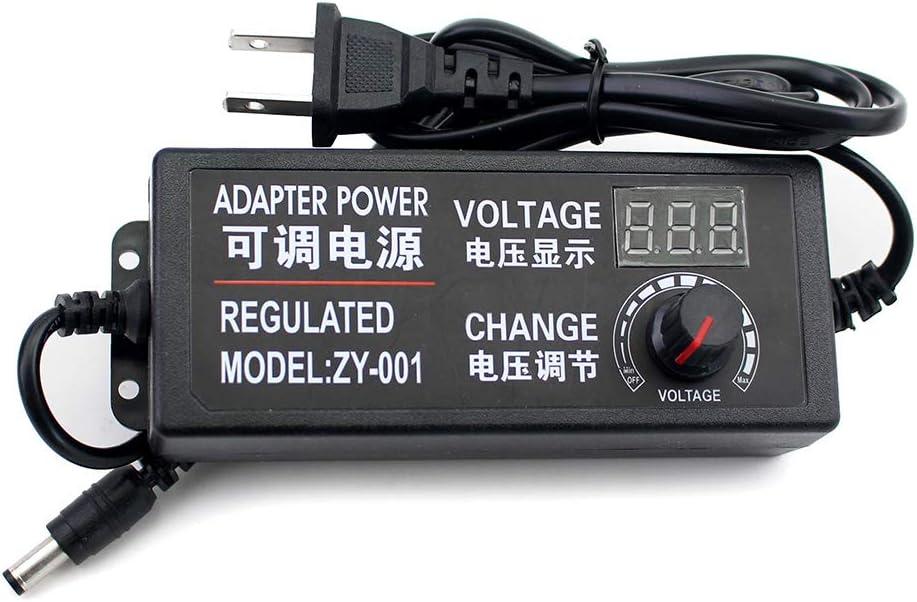 DC 3-12V 5A 60W Universal Switching Adjustable Power Supply Adapter 100-240 AC (US Plug) Power Converter for LED Strip Light, TV Box, Tablet, Camera, BT Speaker (3-12V 5A)