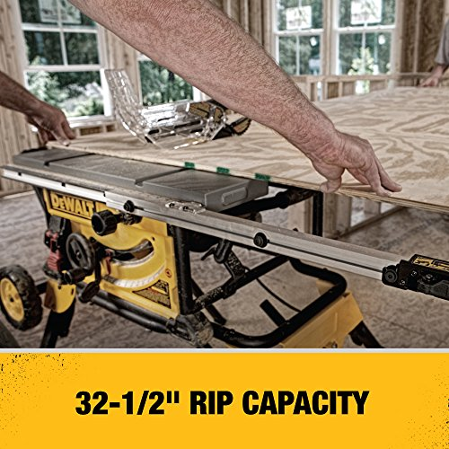 DEWALT (DWE7491RS) 10-Inch Table Saw, 32-1/2-Inch Rip Capacity