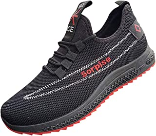 Men's Pop Outdoor Party Friends Social Entertainment Casual Slip-On Basketball Football Running Exercise Mesh Breathable Sand Protection Round Toe Professional Training Rock Climbing Sneakers