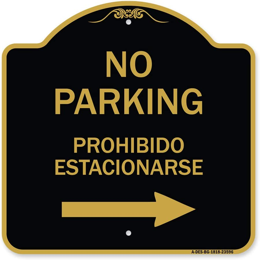 SEAL limited product SignMission Designer Series Sign - Parking Max 50% OFF Estacion No Prohibido