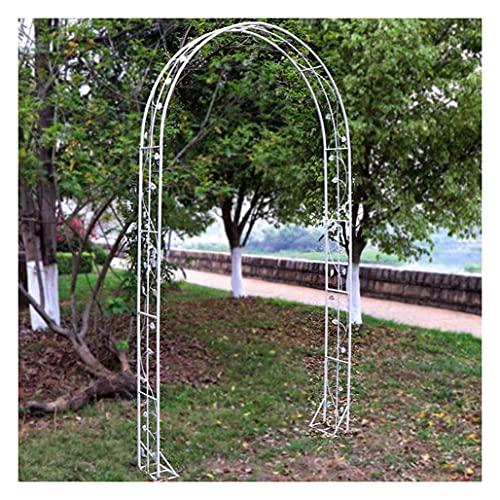 JIZHENG Arco De Metal para Decoración De Bodas Varias Plantas Trepadoras, Soporte De Enrejado para Jardín, Pérgola para Fiestas Nupciales, Cenador (Blanco)