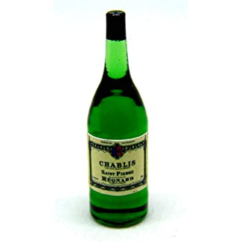 1:12 Scale Glass Bottle With Bordeaux Wine Label Tumdee Dolls House Drink
