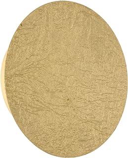 WOFI - Lámpara de interior para salón, lámpara de pared, lámpara, lámpara dorada, plástico clásico, 5 W, color dorado