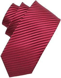 Men Series Red Tie, Meetings, Weddings, Wedding, Fashion Tie 145 × 8cm CQQO (Color : E)