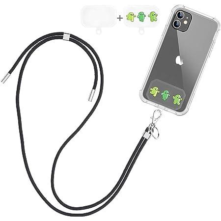Dracool Handykette Universal Schlüsselband Umhängeband Halsband zum Umhängen Nylon Kompatibel mit iPhone 13 12 11 Pro Max 7 8 X XR Samsung Huawei Xiaomi und Mehr Smartphone - Schwarz