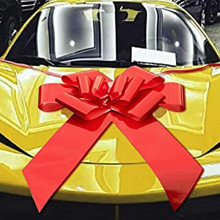 """Big Car Bow Red Ribbon 24"""" Pull Bow for Large Gift Derotation,Gift Wrapping,Car,Valentine's Day,Wedding,Party"""