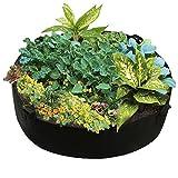 LAMF Erhöhtes Pflanzbeet, rund, aus Filz, mit Griff, für Blumen, Gemüse, Pflanzen, 2 Stück