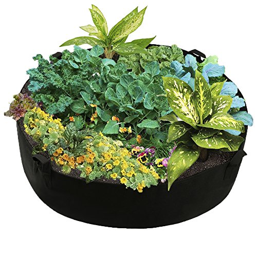 """Fabric Raised Planting Bed, Garden Grow Bags Herb Flower Vegetable Plants Bed Round Planter,Dia50 x 12"""""""