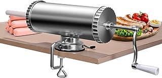 COSTWAY 3L Máquina para Hacer Salchichas Aleación de Aluminio Embutidos de Carne Incluye 3 Tubos de Llenado