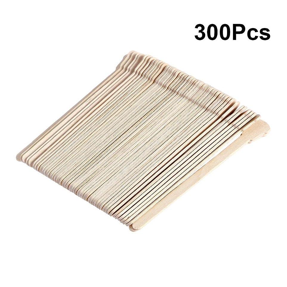 父方のテザーゴールデンSUPVOX 300ピース木製ワックススティックフェイス眉毛ワックスへら脱毛(オリジナル木製色)