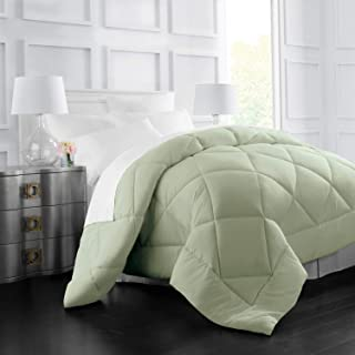 (Full/Queen, Sage) - Egyptian Luxury Goose Down Alternative Comforter - All Season - 2100 Series Hotel Collection - Luxury...