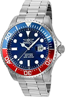 Men's Pro Diver Quartz Diving Watch with Stainless-Steel Strap, Silver, 22 (Model: 22823)