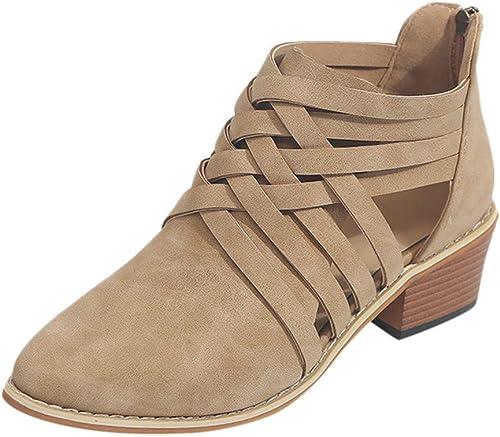 Schuhe Damen Stiefel Frauen EU) 41 Größe Khaki, (Farbe