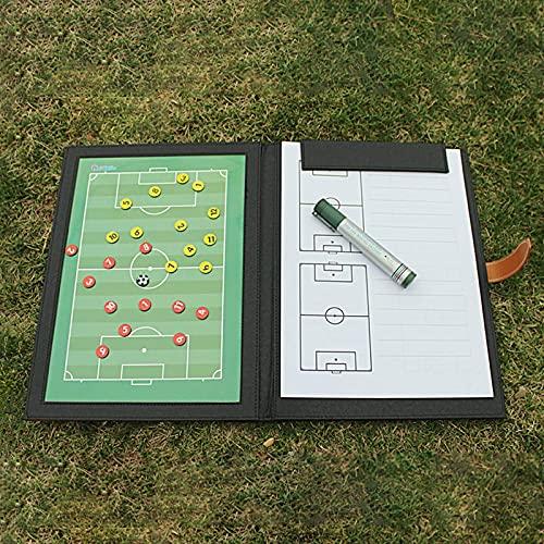 FTYYSWL Coaching Strategy Board,Appunti di strategia tattica,Calcio Calcio Calcio Calcio Coaching Board/Tattiche Cartella Pieghevole