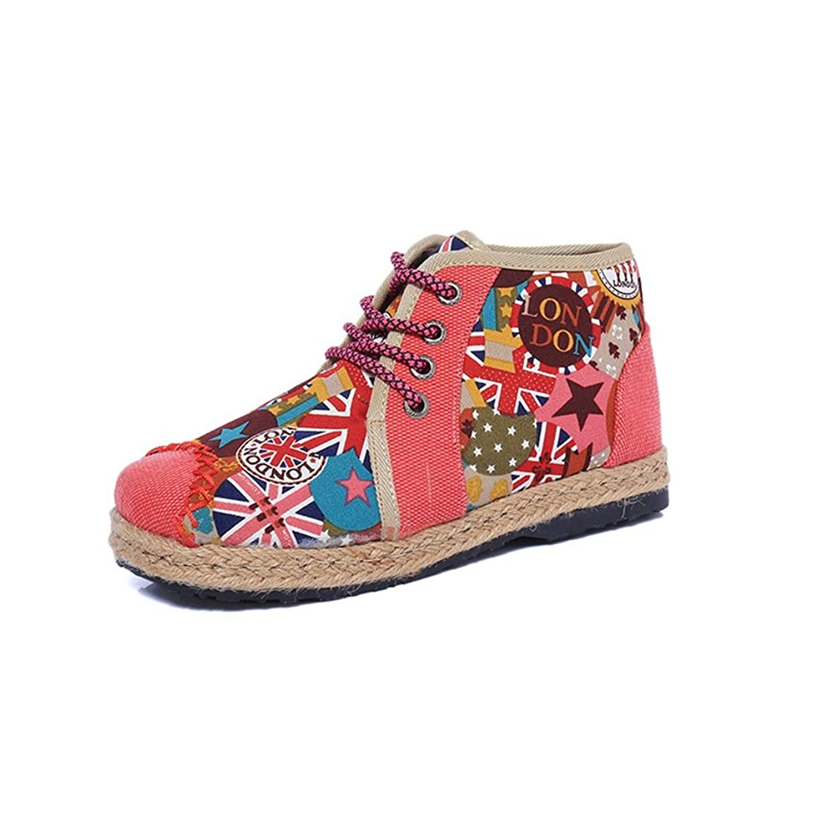 初期のフレアむしゃむしゃ[XINXIKEJI] ハイカットシューズ レディース シンプル 北京靴 オシャレ エスニック 歩きやすい 通気性 ボア付き コンフォートシューズ 6色