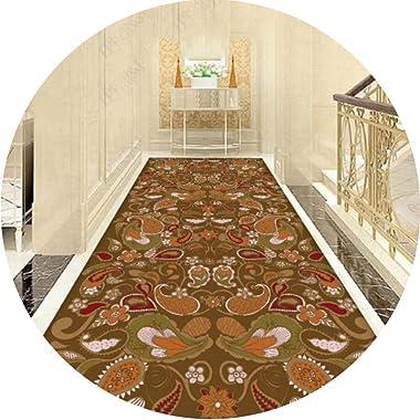 JIAJUAN Hallway Runner Rug Indoor Collection Home Décor Non Skid Modern Abstract Carpet Cuttable Extra Long Floor Mat (Color