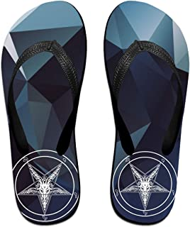 AA+ME Satan Painting Baphomet Satanic Pentagram Comfortable Men Women Summer Beach Sandals Shower Flip-Flops Slippers