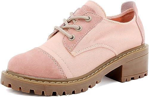 KOKQSX-Chaussures à Talon Talon Martin Teint la Toile MesLes dames.  livraison éclair