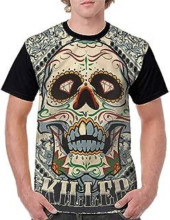 Casual Short Sleeve Graphic Tee Shirts,Oriental Motifs and Animal Fashion Personality Customization