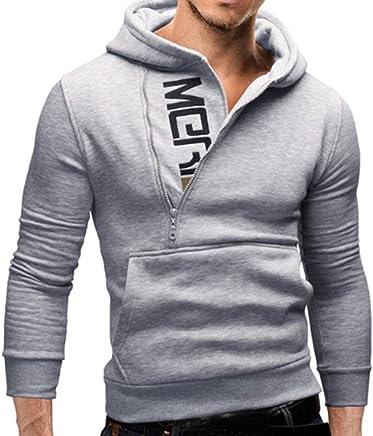 Hattfart Men's Winter Clothes, New Men's Casual Hooded Sweatshirt Tops Jacket