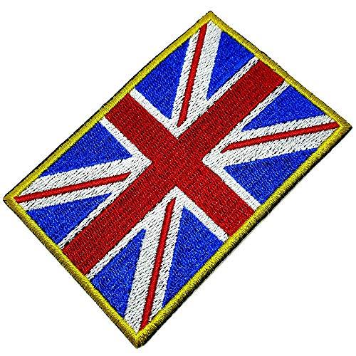 BP0001T 21 BR44 Bandeira Reino Unido Patch Bordada passar a ferro ou costura
