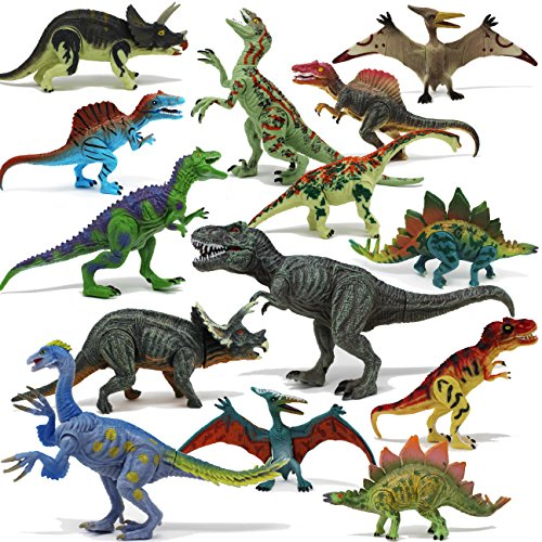 Joyin Toy 18Piece 6' to 9' Educational Realistic Dinosaur Figures with Movable...