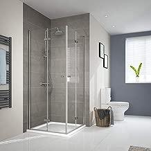 Duschkabine Eckeinstieg Dusche 180° Falttür Duschwand Duschabtrennung190//195cm