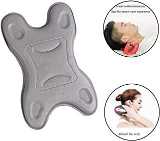 Innovative Neck Stretcher,Portable Neck Support Pillow for Relief of Neck Pain & Stress, Improve Sleep Quality,for Side Sleepers, Back and Stomach Sleepers (Grey)