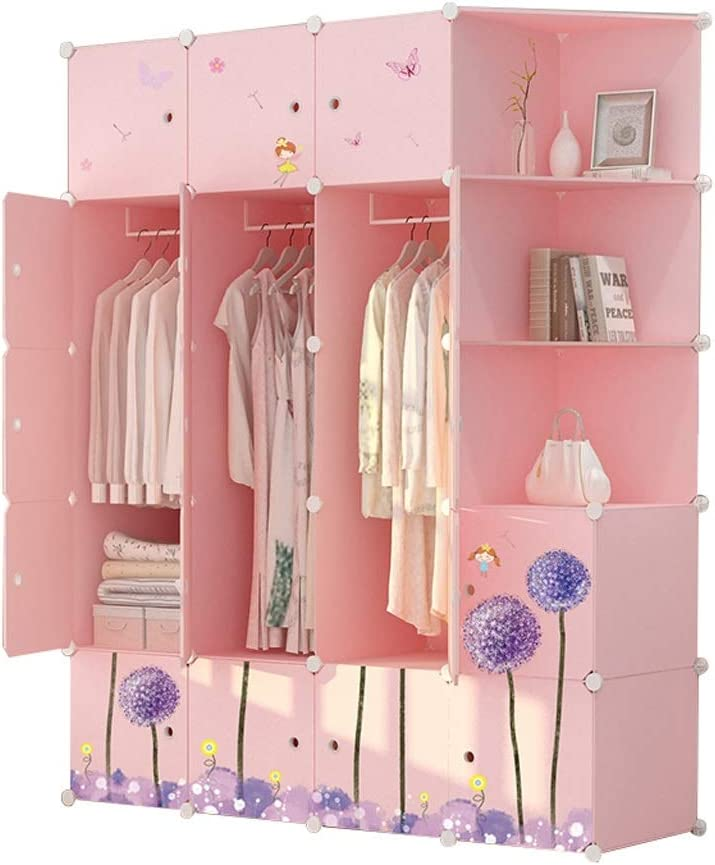 ZZF Combination Wardrobe New products, world's highest quality popular! Children's S Assembled Cheap Cartoon