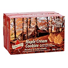 Made with 100% Pure Canadian Maple Syrup 18 Cookies per box with creamy, delicious maple syrup filling. This item contains two boxes of 18 cookies, total 36 cookies Ingredients: Enriched wheat flour, sugar, shortening (palm oil, canola oil, modified ...