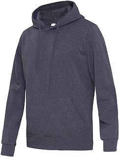 Men's Hoodie Basic Hooded Sweater Long Sleeve Men's Drawstring with Kangaroo Pocket Sweatshirt Tracksuits Solid Color Loos...