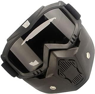 ELECTROPRIME Shockproof Motorcycle Helmet Adjustable Parts Detachable Black+Gray ABS+PC