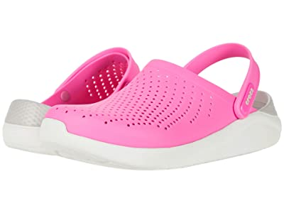 Crocs LiteRide Clog (Electric Pink/Almost White) Shoes