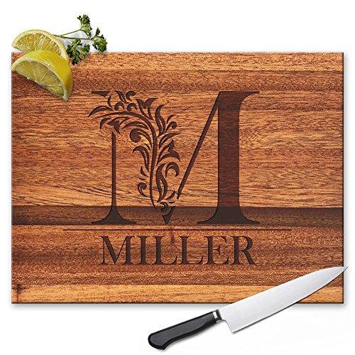 Froolu Cute Monogram custom cheese board for Initial...