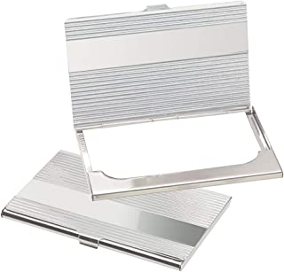 eBuyGB Chrome Plated Holder Credit ID Business Card Case, 10 cm, Silver