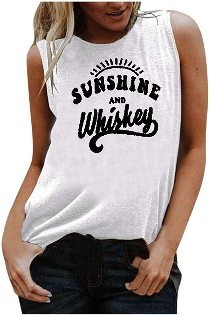 AODONG Tops for Women, Womens Casual Summer Tank Tops Loose Fit Sleeveless Workout Shirts Vest Tunics Blouses