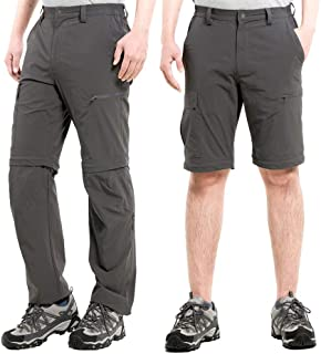 Cycorld Men`s Hiking Pants Outdoor Convertible Lightweight Quick Dry Pant Cargo Pockets Stretch Zip Off 3 in 1 Summer Pant