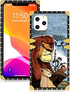 DISNEY COLLECTION Case for iPhone 11 Pro Max [6.5 inch], Cute Cartoon Pattern The Lion King Square Soft TPU Protective Case Luxury Glitter Decoration