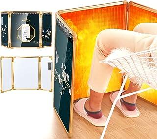 Aokeou パネルヒーター 【2020最新型 高温版】遠赤外線 デスクヒーター 折りたたみ 足元暖房 フットヒーター 電気ヒーター 温度調節 転倒・過熱保護 コンパクト収納 防寒対策冷え防止 暖房器具 アルミ合金 省エネ 日本語説明書付き
