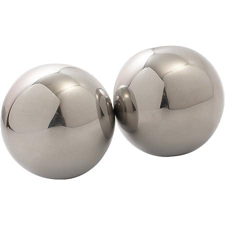 2個組4.0cm 何度も使えるステンレススチール アイスキューブ ボール 球体 ウイスキー ワイン 冷却ストーン