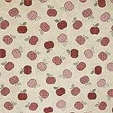 Dekostoff kleine Äpfel rot Canvas - Preis gilt für 0,5