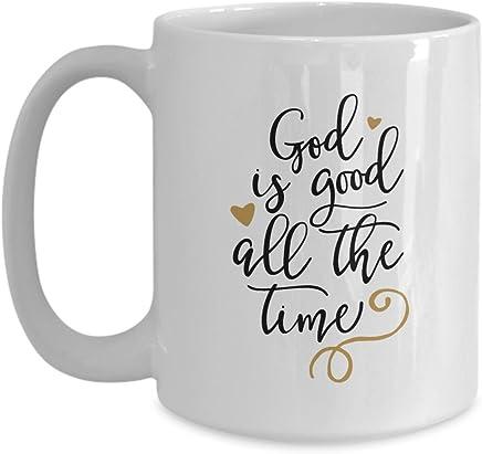 Coffee Mug - God is Good All The Time Christmas Gift by Tech Fashion