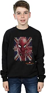Marvel Niños Spider-Man Far from Home British Flag Camisa De Entrenamiento