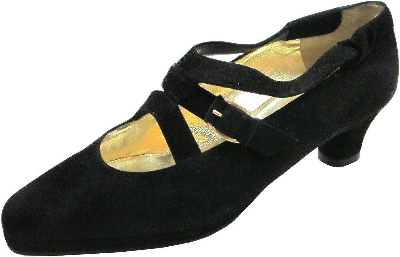 Barbarella 4028 Women's Italian Suede Dressy Low Heel shoes