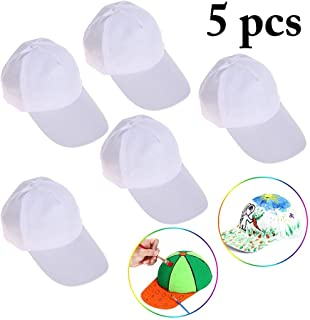 B bangcool DIY Kids Baseball Caps Hats - White DIY Creative Painting Polyester Sun Hat Sports Cap for Kids Aged 3-12 yrs Old, Boys, 21726BX9E900G04YG6IM, White