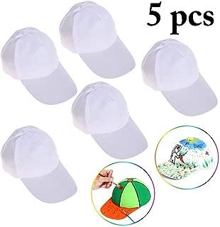 B bangcool DIY Kids Baseball Caps Hats - White DIY Creative Painting Polyester Sun Hat Sports Cap for Kids Aged 3-12 yrs Old, Boys, 21726BX9E900G04YG6IM, White