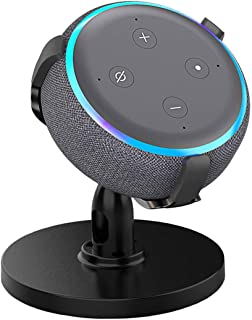 AutoSonic Table Stand Holder Compatible with Echo Dot 3rd Generation, Amazon Echo Dot Stand Accessories for Smart Home, 360 Degree Rotation Swivel,Tilt Function, Anti-Slip Base