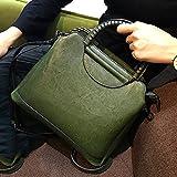 LBYMYB Bolsa Marea Femenina versión Wave Nueva Wild Messenger Bag Bolso atmosférico Simple Bolso Retro Bolso de Mano (Color : Green)