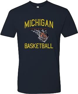 NCAA Faded Retro Basketball, Team Color T Shirt Premium Cotton, College, University